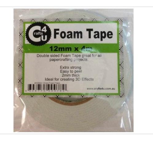 Foam tape 12mm x 4m