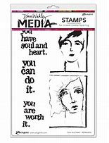 Dina Wakley Media Stamp- Soul and Heart