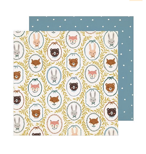 Critters 12x12 paper Magical Forest
