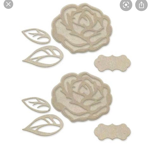 Layered Roses Chipboard Set