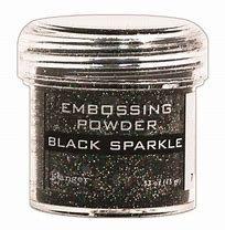 Embossing powder- Black Sparkle