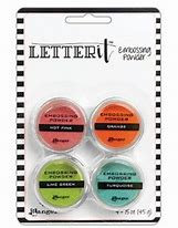 letter it Embossing powders 4 pack