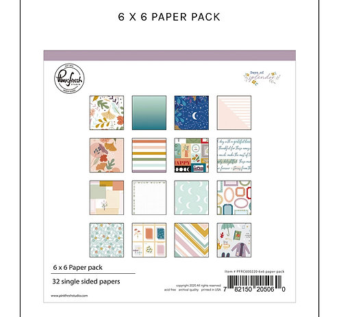 Days of splendor 6x6  paper pad