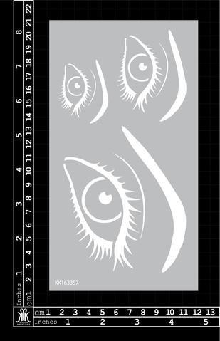 Eyes Stencil - Kinder Kreations