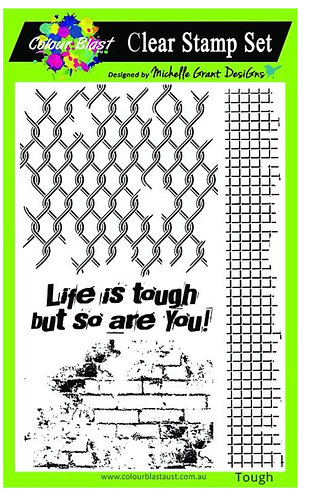 Life is tough clear stamp