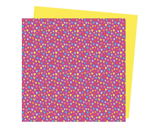 Feel the love 12x12 Double sided patterned paper -Picnic in the park