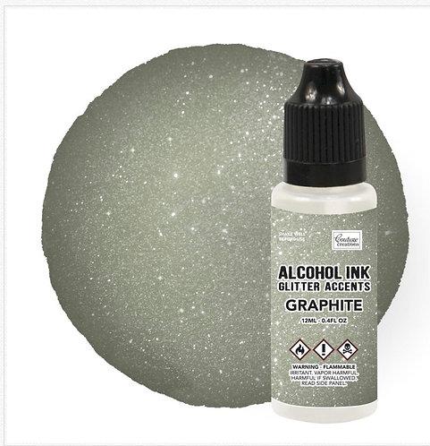 Graphite-Glitter Alcohol Ink