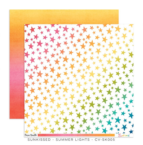 Sunkissed-12x12 Patterned Paper- Summer Lights