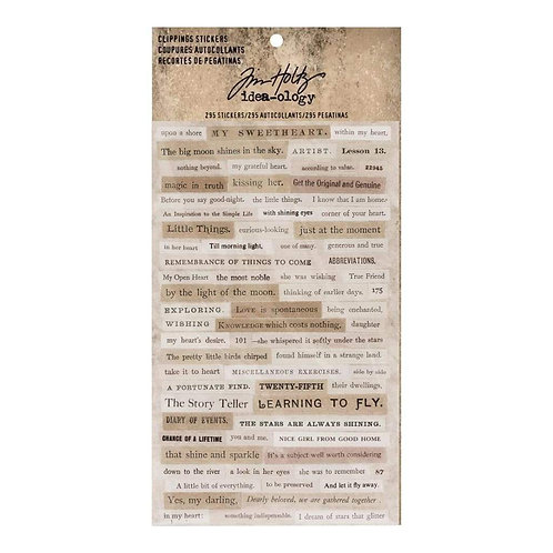 Clippings Stickers by Tim Holtz idea-ology