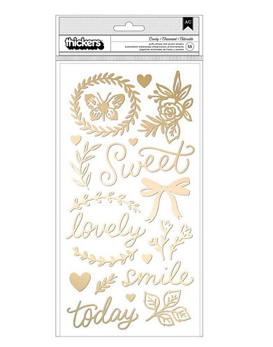Marigold  Lovely Thicker Sticker Crate Paper