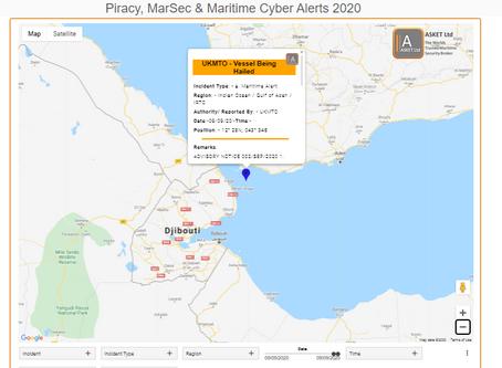 UKMTO Advisory - Vessels being hailed IVO Bab el Mandeb