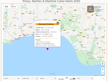 MDAT GoG - Attempted Boarding Gulf of Guinea #piracy
