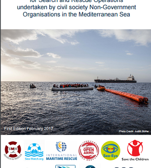 Voluntary Code of Conduct for SAR operations by NGO's in the Mediterranean Sea #humanrightsatsea