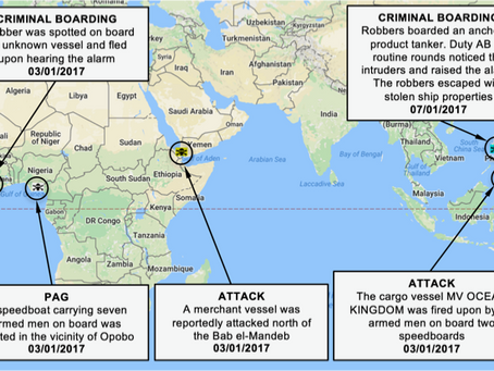 NYA Weekly Piracy Maritime Security and Armed Robbery Chart #marsec #shipping #piracy