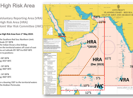 Reminder: New Indian Ocean High Risk Area from 01 May 2019 #MarSec #Piracy #Insurance