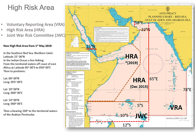 Indian Ocean High Risk Area to be reduced from 01 May 2019