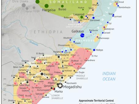 Somalia Control Map - August 2017