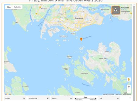 Tug Boarded Singapore Strait #piracy #marsec