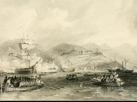 Occupation of Dinghai harbour