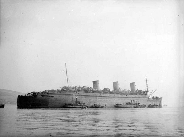 HMS Curacoa (D41), a light cruiser, commissioned in 1918.