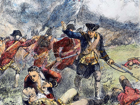 "Major Pitcairn and the Battle of Bunker Hill  1775 ""Now, for the glory of the Marines!"""