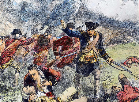 """Major Pitcairn and the Battle of Bunker Hill  1775 """"Now, for the glory of the Marines!"""""""