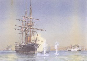 First Firing of a Torpedo in Action