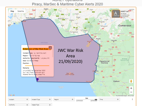 Gulf of Guinea - Extension of War Risk Area