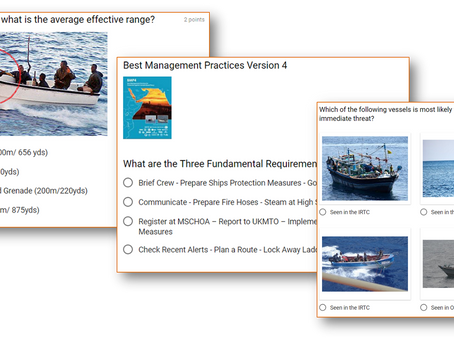Masters, Officers and Crew test yourself with our BMP 4 - HRA Quiz! #marsec #piracy #shipping