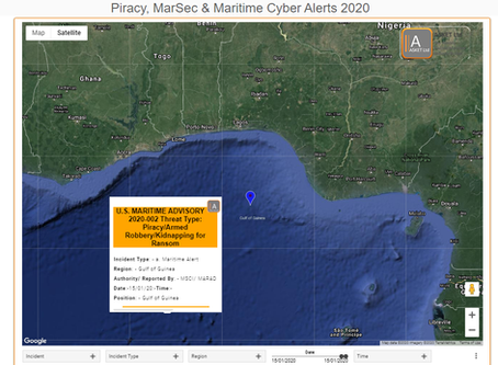 U.S. MARITIME ADVISORY 2020-002- Piracy/Armed Robbery/Kidnapping for Ransom - Gulf of Guinea #marsec