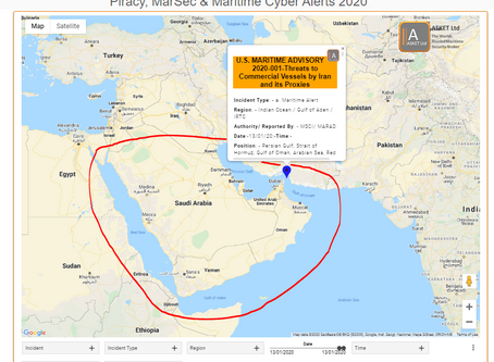 U.S. MARITIME ADVISORY 2020-001-Threats to Commercial Vessels by Iran and its Proxies #marsec #cyber