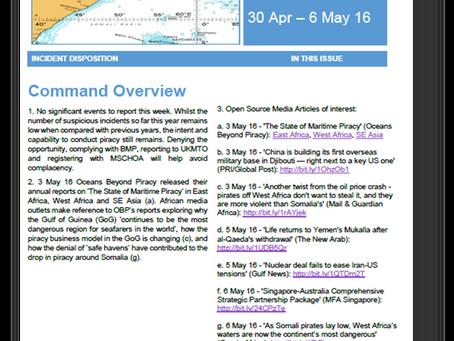 UKMTO Piracy Report 6 May 2016