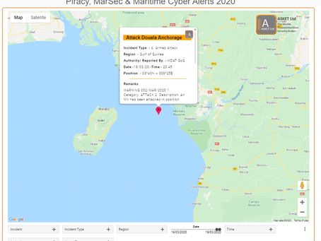 MDAT GoG - Vessel Attacked Douala Anchorage #piracy