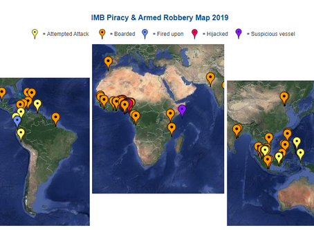 IMB ICC Live Piracy & Armed Robbery Report 2019 - Reported in Last 7 days #marsec #piracy @IMB_P