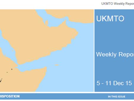 UKMTO Weekly report 6 - 11 Dec