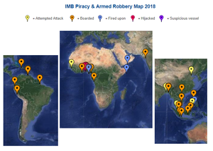 IMB ICC Live Piracy & Armed Robbery Report 2018 - Reported in Last 7 days #marsec #piracy @IMB_Piracy