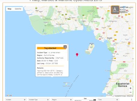 MDAT GoG - Tug Attacked #piracy #marsec