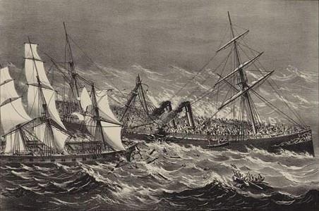 15 November 1873 - Passenger Liner - Ville du Havre - sank in 12 minutes with the loss of 22