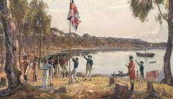 The First Fleet - Landing at Sydney Cove