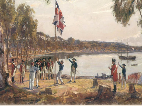 The First Fleet - Landing at Sydney Cove