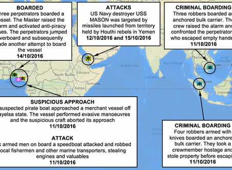 NYA Weekly Piracy Maritime Security and Armed Robbery Chart