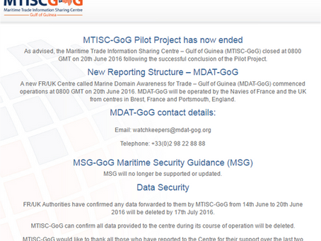 MTISC-GoG Pilot Project has now officially ended