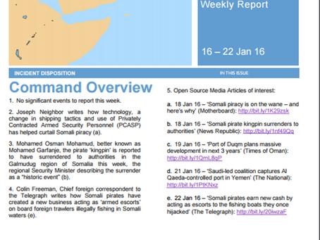 UKMTO Weekly Report