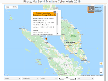 IMO GISIS - Robbery at Anchor, Belawan Anchorage, Indonesia, @IMOHQ #piracy #marsec