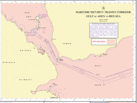 UKHO  releases Updates Q6099 & Q6111 to include CMF Maritime Security Transit Corridor