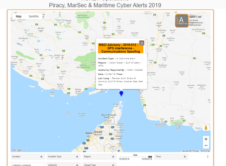 MSCI Advisory - 2019-012-Persian Gulf, Strait of Hormuz, Gulf of Oman, Arabian Sea, Red Sea-Threats
