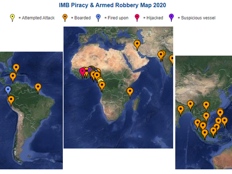 IMB ICC Live Piracy & Armed Robbery Report 2020 - Reported in Last 7 days