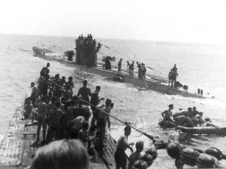 U-156 torpedoes the RMS Laconia -  almost 1,500 saved #militaryhistory