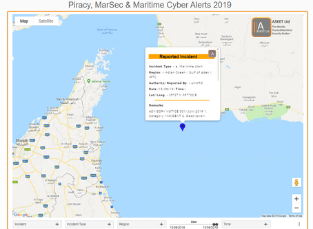 UKMTO -  ADVISORY NOTICE 001/JUN/2019 - Reported Incident - Under Investigation #marsec #piracy #ter