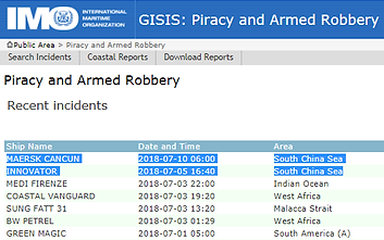 IMO GISIS: Piracy and Armed Robbery Report - #marsec #piracy | ASKET